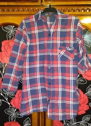 Рубашка с рукавами в полчетверти