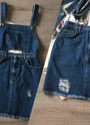 Трендовий джинсовий комбінезон/спідниця від pull&bear