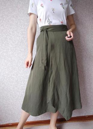 Длинная юбка per una (в составе лён)