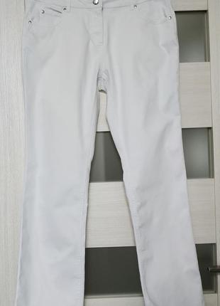 Белые плотные джинсы прямые ровные esmara