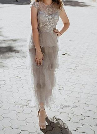 Вечернее нарядное платье