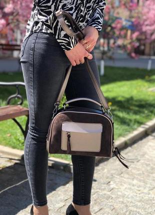 Новая сумка с натуральной замшей