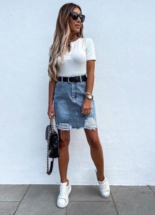 Юбка, джинсовая юбка