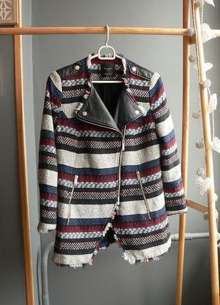 Шикарное пальто, косуха zara trf размер s-m
