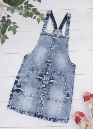 Новый женский стильный джинсовый комбинезон джинсовый летний сарафан