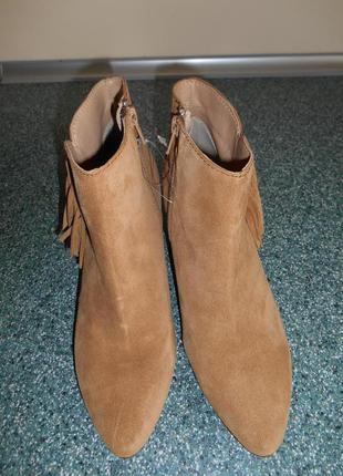 Шикарные кожаные брендовые ботинки eram 37р