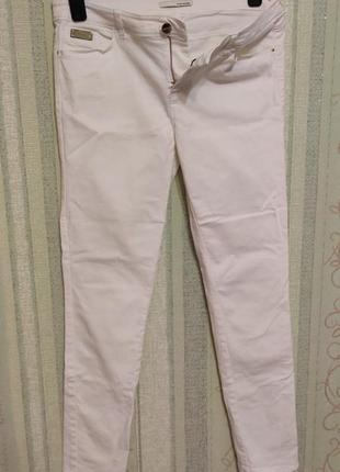 Женские белые  джинсы скинни на р.48-50