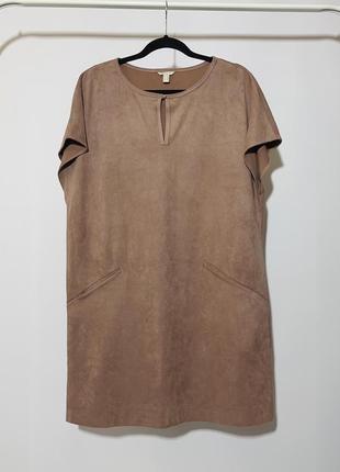 Esprit платье под замшу прямого кроя оверсайзд