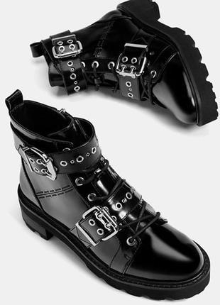 Лаковые ботинки bershka 38 размер