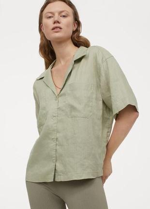 Льняная рубашка,  h&m, originally