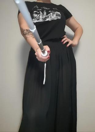 Черная макси юбка 12-16 размер.