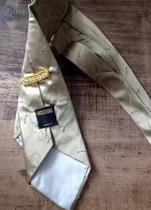 Винтажная краватка moschino, винтаж, шелк галстук