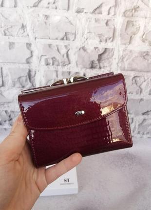 Женский кожаный кошелек небольшой компактный жіночий шкіряний гаманець
