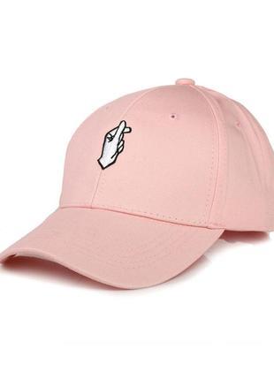 Кепка hand рожева