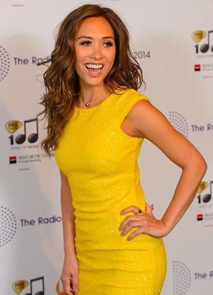 Желтое платье в пайетки