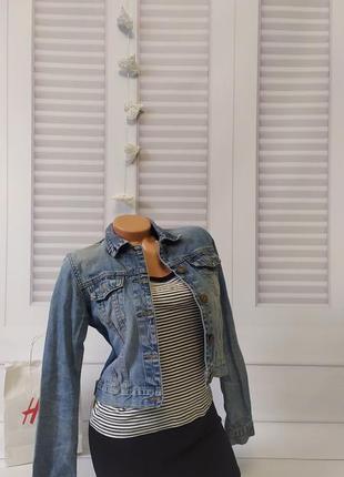 Джинсовка джинсовая куртка курточка деним базовая, s