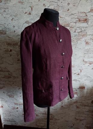 Льняной легкий пиджак жакет тренч