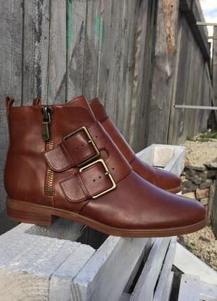 Кожаные осенние ботинки clarks somerset