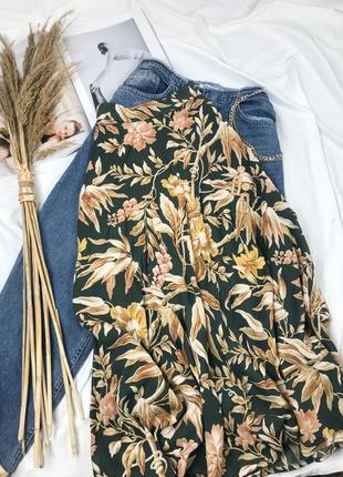 Шикарная юбка миди на высокой посадке в принт