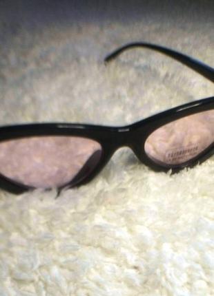 Очки лисички солнцезащитные с розовыми линзами имиджевые2 фото