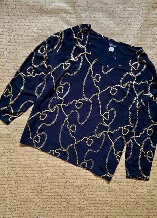Шикарная нарядная черная свободная блуза вискоза батал большой размер 52 54 размер