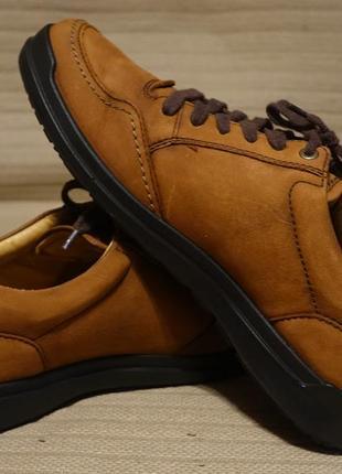 Мягкие легкие классические фирменные кожаные туфли коньячного цвета ecco дания 41 р.( 26,5 см.)