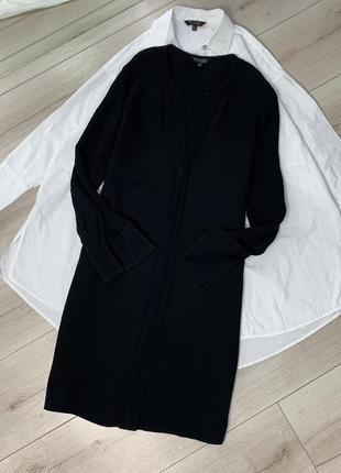 Чёрное платье massimo dutti оригинал1 фото