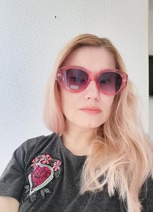 Эксклюзивные брендовые прозрачно розовые солнцезащитные очки 20213 фото
