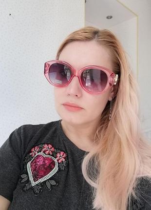 Эксклюзивные брендовые прозрачно розовые солнцезащитные очки 20212 фото