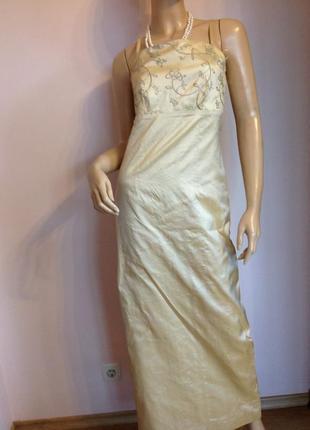 Длинное шелковое вечернее платье/s/ brend bhs