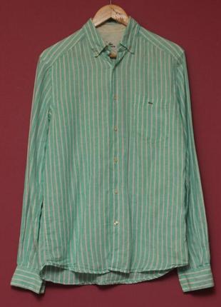 Lacoste 38 m-l льянаная рубашка рубашка из льна
