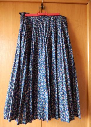 Плиссерованная юбка солнце-клеш