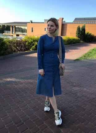 Деним/джинсовое платье