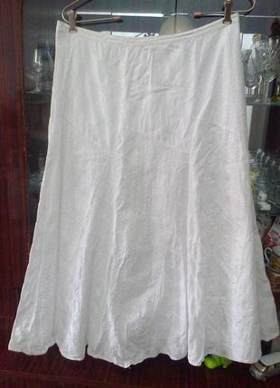Юбка- годе батистовая (пот 44 см ) 61