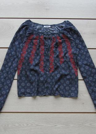 Укороченная блуза вышиванка в орнамент от only