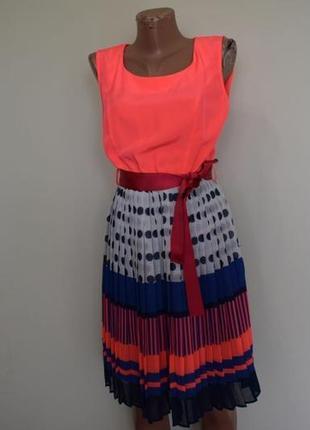 Новое неоновое платье с плиссе!