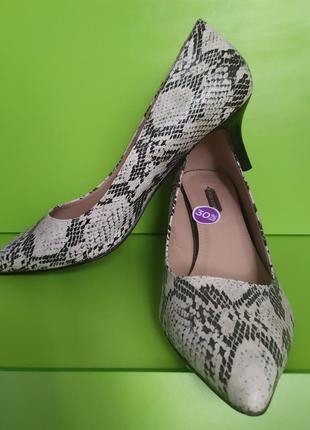 Туфли в змеиный принт, 7, 41