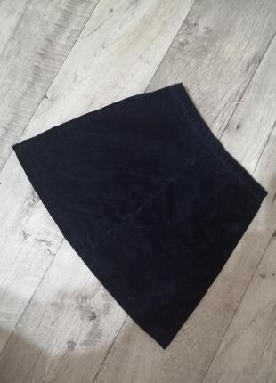 Бархатная юбка мини