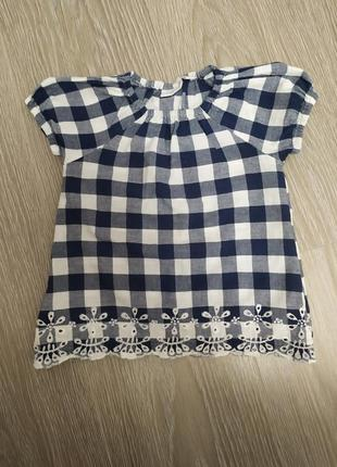 Блузка футболка в клеточку