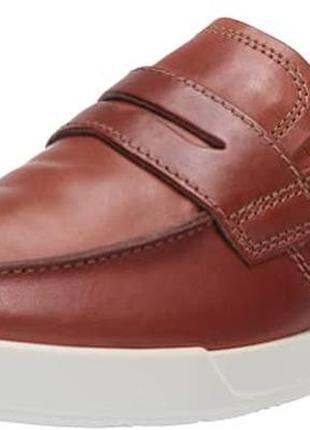 Акциякожаные туфли-лоферы ecco р.45. оригинал. новые