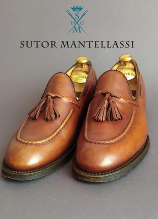 Туфли тассел-лоферы sutor mantellassi италия