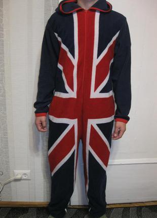 Английский флаг крутая пижама кигуруми современной и смелой хс-с на рост до 171 см