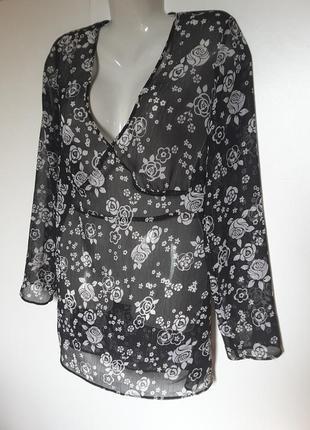 Шифоновая блуза удлиненная