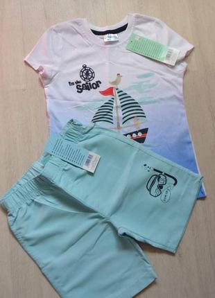 Набор комплект футболка шорты мальчику pepco набір шорти футболка