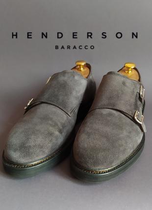 Замшевые двойные монки henderson baracco италия.