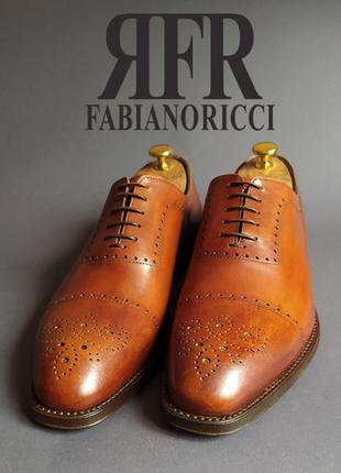 Туфли оксфорды брог fabiano ricci италия.