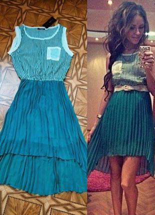 Классное шифоновое платье