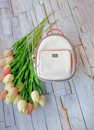 Рюкзак белый david jones original экокожа