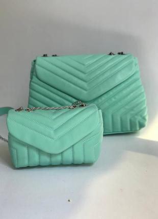 Модная сумка мятного цвета