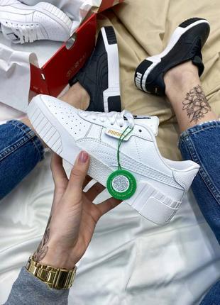 Кроссовки в стиле puma cali white1 фото